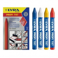 LYRA Wax-marking Chalk 796, waterproof, 120 mm