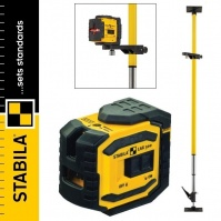 STABILA LAX 300 Cross-line Laser + LT 30 telescopic support