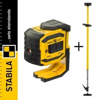 STABILA LA-5P Self-levelling 5-point Laser + Telescopic Support LT30