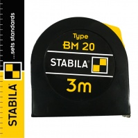 Stabila BM 20 Steel Pocket Tape Measure 3 m, with a lock