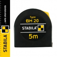 Stabila BM 20 Steel Pocket Tape Measure 5 m, with a lock