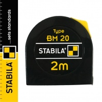 Stabila BM 20 Steel Pocket Tape Measure, with a lock