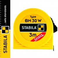 STABILA Rectractable Steel Tape Measure, 3 m, window for reading