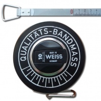 WEISS Chrome-Nickel Measuring Tape, 10 m, anti-break, in a close case