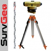SurvGeo AT-28 Levelling Set, tripod+staff