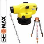 Geomax ZAL132 - Optical Level, 32x magnification + staff + tripod